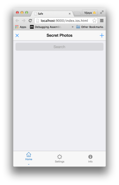 List page in browser for iPhone 4