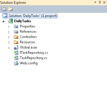 Solution Explorer